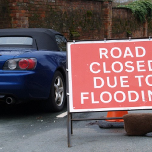Flooding shuts roads in Shropshire as river levels rise