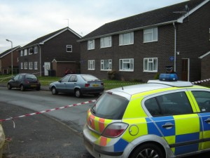 Police were first called to an address in Caradoc View, Hanwood, at about 6.40pm yesterday, following reports of concern for the occupant. Photo: Tom Stokes (103.1 Beacon)