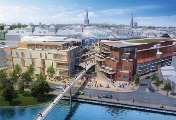 How the New Riverside Shopping Centre would look.