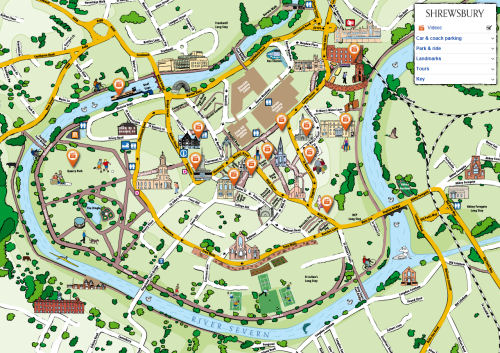 New interactive map of Shrewsbury launched by Council | Shropshire Live