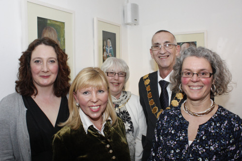 Front: Carla Boulton, Svetlana Elantseva and Paola Alessandri-Gray (Back) Councillor Tony Durnell, Mayor of Shrewsbury and Tricia Durnell. Photo: Chris Bentley.