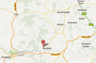 Bucknell on the Shropshire border - Google Maps