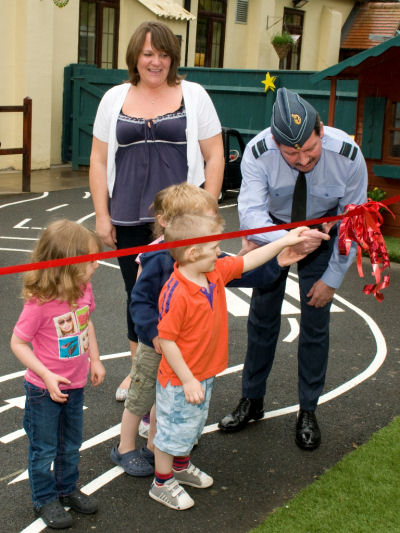 As part of the visit AVM Lloyd performed the Official opening of the new Station Community Centre.
