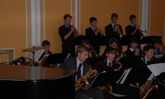 Shrewsbury School's Big Band.