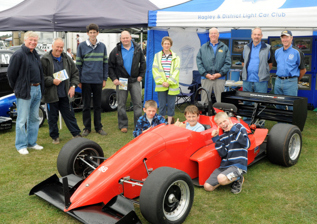 Hagley Car Club members and visitors at a previous display.