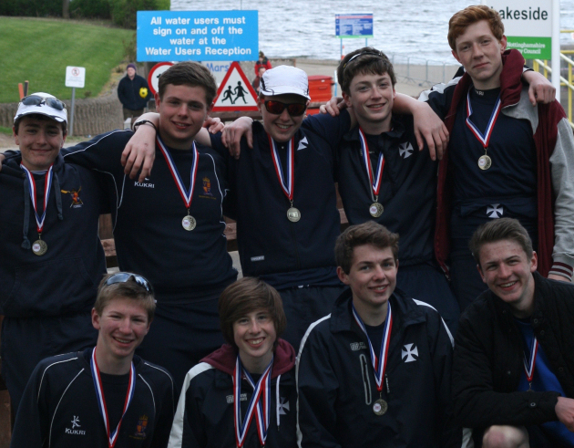 Pictured from left, back row, Alex Powell, Harry Poole, Toby Thomas, Charlie Duckworth, Peter Hammond. Front row, from left, George Patterson, Ed Carroll, Elliot Robinson-Boulton, Charlie Johnston.