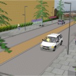 An artist impression of the new box road.