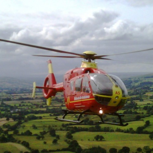Rider airlifted after falling from horse in Quatt