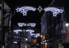 Shrewsbury Christmas lights light up Mardol.