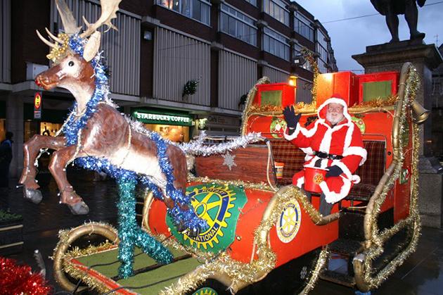 Shawbury and Mid Shropshire Rotary Santa Sleigh