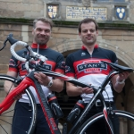 Mike Jones of Paramount Cycling Racing Team and owner of Shrewsbury-based Stan's Cycles with Ben Lawrence, racing team manager.