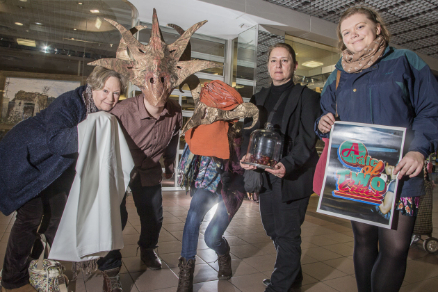Artists exhibiting special show fresh from Birmingham at the Darwin Centre, Shrewsbury, from left, Sarah Fortes Mayer, Jonathan Charles Graney, Katie Eccleston, Dea Paradisos and Katharine Wade.