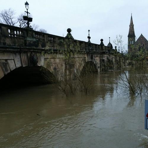 River Severn through Shropshire on Flood Alert as more rain falls