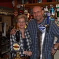 Jo and AJ Dando, landlords of the Malt Shovel.