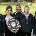 Girls' Senior Team: Sophie Pelling, Lucie Cornwell-Lee, Coach Kait Weston, Tatty Hunt and Tory Mobley.