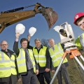 Launching work on the second phase of Tern Valley Business Park are Shropshire Council's estate surveyor Matthew Mitchell, Halls' commercial manager James Evans, Matrix IDC Limited's quantity surveyor Dennis Gough, architect Steve Sammons and Jack Gwilliam representing Redstart Construction Ltd.