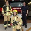 Shropshire firefighter Louise Fletcher (right) with Lindsay Jones and Laura Davies (front) at last year's women firefighter taster session.
