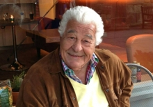Antonio Carluccio outside  Carluccio's Cafe Shrewsbury