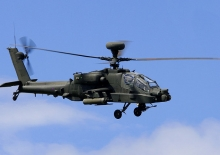 An Army Apache will again be at Cosford as part of the planned six-hour flying display.