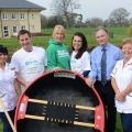 Elena Diola, Care Supervisor at Isle Court Nursing Home, Grant Williams from the Coracle Committee, Helen Knight from Macmillan Cancer Care, Jayney Davies from the Coracle Committee, Timothy Morris CEO of Morris Care and Linda Taylor, Care Assistant at the Isle Court Nursing Home.