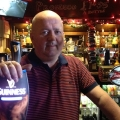 Gary Brennan behind his bar in Oswestry.