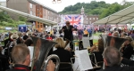 The Salopian Brass Band perform at Ironbridge Gorge Brass Band Festival.