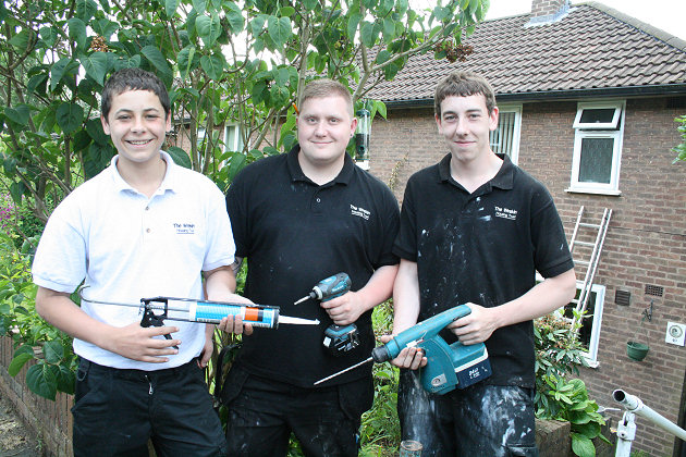 Josh Empsom, Riki Norton-Wilkes, Dan Brown who are working with the Trust's Commercial Services Team.