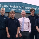 Director Christopher Greenough (centre) and John Butler (left) with the three new apprentices.
