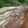The trench dug at The Engine House Visitor Centre, Highley.