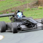 Clive Austin in the F1-inspired Empire Wraith single-seater racing car which will be competing at Loton Park this weekend.