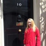 Georgina Hockenhull outside Number 10 Downing Street.