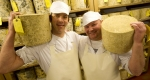 Ludlow cheese makers Dudley Martin and Paul Bedford.