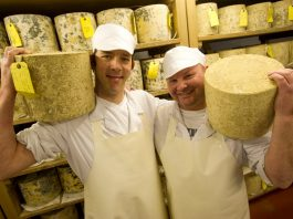 Ludlow cheese makers Dudley Martin and Paul Bedford