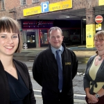 Kirsten Henly BID Manager Steve Dey NCP Business Manager and Zoe Mortimer Shropshire Council.