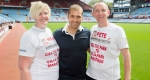 Stiliyan Petrov with Pete Gough and wife Mandi.
