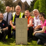 Representatives of the partner organisations with a member of the Community Payback team at one of the graveyards.