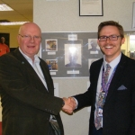 Steve Harris director at Carewatch and Graham Reynolds senior administrator for pre-employment skills at TCAT