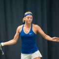 German ace Carina Witthoeft shows the stylish form on court which has earned her a place in the Aegon GB Pro-Series final at The Shrewsbury Club this afternoon against Oceane Dodin of France. Photo: Richard Dawson