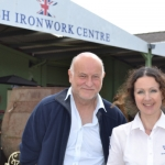 Clive Knight, Community Games Committee & Amanda Fitton, Ambassador of the British Ironwork Centre