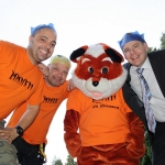 Dan Harris and Mat Harris with the Wrekin Fox and Wayne Jenson.
