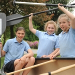 Harriet Cuthbert, Isobel Salt and Lucy Powell are three pupils who are taking part in the charity challenge.