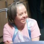 Jenny Turner, volunteer at Westlands with resident Eileen Wood.