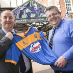 Shrewsbury Town Chief Executive Matt Williams, left, and Kevin Lockwood, Manager of the Darwin, Pride Hill and Riverside Shopping Centres, at the Darwin Centre where the club's new shop will open next month.