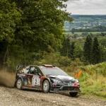 Event winner Paul Bird in his Ford Focus WRC. . Photo: RallySport Media.