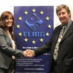 Lynn Gardner from telford International centre with Dermot Boylan from ELRIG