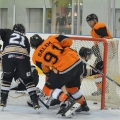 Telford Tigers Nathan Salem and Ricky Plant on the ice.