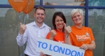 Gary Preston, Catherine Preston and Nikki White who will be taking part in the challenge this Thursday