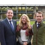 Chris Bell, Georgina Cross and James Haselwood, the latest recruits at the Shrewsbury office of Carter Jonas