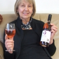June Ferguson with the new Rosé wine called 'Kerry Rose' from their 2013 vintage