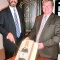 Matrix Capital Directors Gary Matthews (left) and Robin Melley celebrate a decade of business success